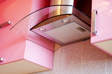 Ventilation of modern kitchen