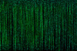 Green digital matrix abstract background