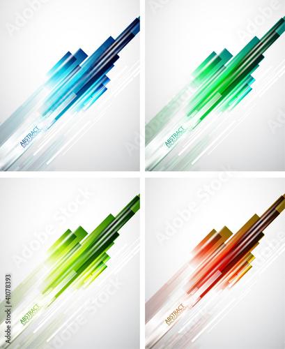 Set of color line background