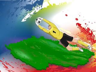 Goalie in yellow