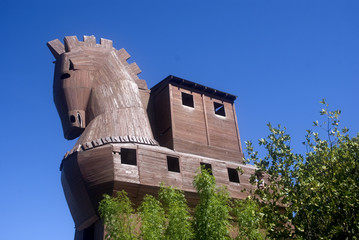 Wooden horse, Troy, Turkey