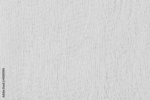 White medical bandage gauze texture, textured background