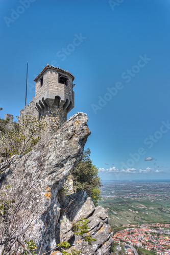 medieval tower in San Marino