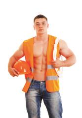 A muscular worker
