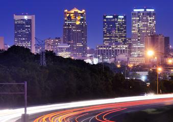 Birmingham, Alabama Skyline above Interstate 65