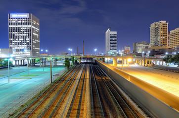 Railroad Lines in downtown Birmingham, Alabama