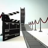 Film roll carpet entrance
