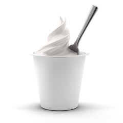 Yogurt isolated on white background