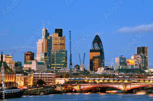 London Skyscrapers at Dusk