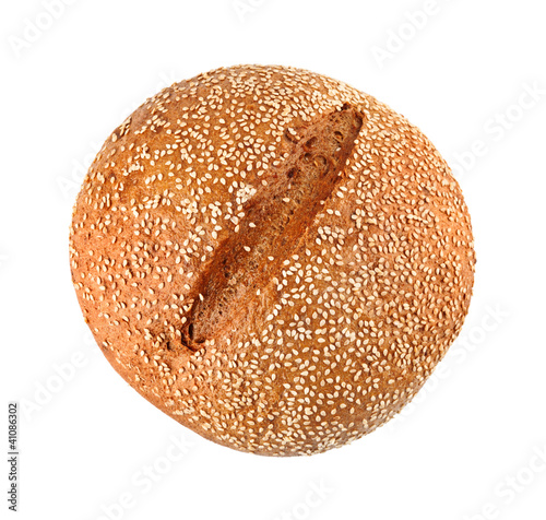 A loaf of onion bread with sesame seeds