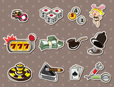 cartoon casino stickers