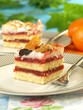 Strawberry cake with dried fruits