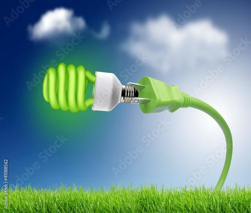 zielona-wtyczka-z-zielona-zarowka-eco-concept