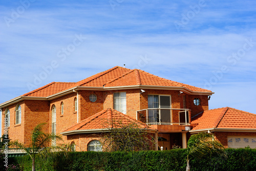 House with terracotta roof tiles