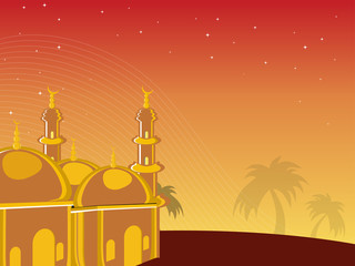 vector illustration of abstract ramadan,eid background