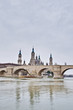 Stone Bridge across the Ebro River at Zaragoza, Spain