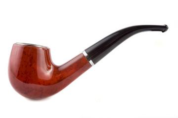 Tobacco pipe over white