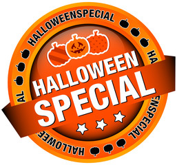 "Button Banner ""Halloweenspecial"" orange"