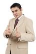 Indian businessman making hand gesture