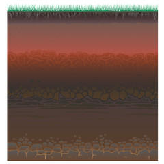 A cut of soil (profile).