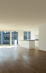 beautiful new apartment, interior, open space