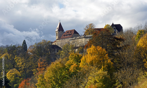 Shot of Coburg Castle in germany