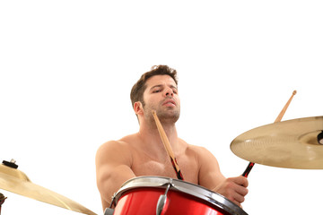 young male drummer