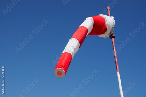 Red and white windsock © Arena Photo UK