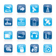 wireless and technology icons - vector icon set