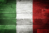 Fototapety italy flag painted on old wood