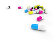 pills 3d render illustration