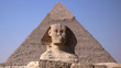 Esfinge y pirámide de Jafra en Giza, Egipto