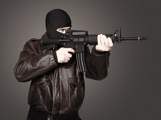 terrorist in action