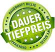 "Button Banner ""Dauertiefpreis"" grün"