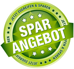 "Button Banner ""Sparangebot"" grün"