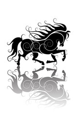 Stylized horse silhouette
