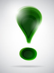 green exclamation mark
