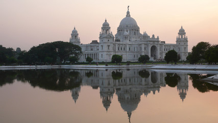 Victoria Memorial de Calcuta en Bengala Occidental, India