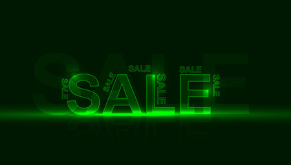 green sale poster