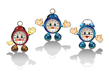 Cute cartoon clocks