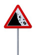 """Global Financial Crisis"" Road Sign on White"
