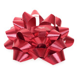 Red bow. Hight res. All in focus. Isolated on white poster