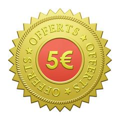 "Label ""5€ Offerts"""