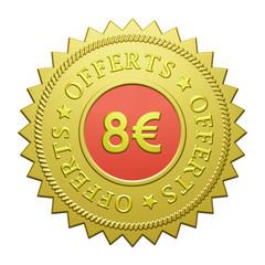 "Label ""8€ Offerts"""
