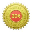 "Label ""20€ Offerts"""