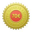 "Label ""70€ Offerts"""