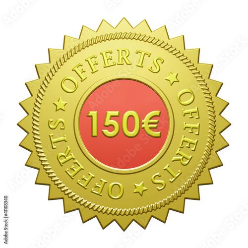 "Label ""150€ Offerts"""