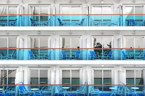 Cabins of a modern cruise ship