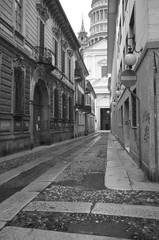 Via per il centro storico B&W image