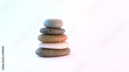 pile of zen stones with track